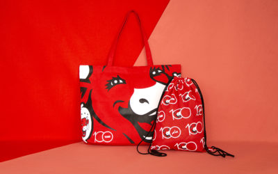 Création de sacs en tissu pour les 100 ans de la Vache qui rit